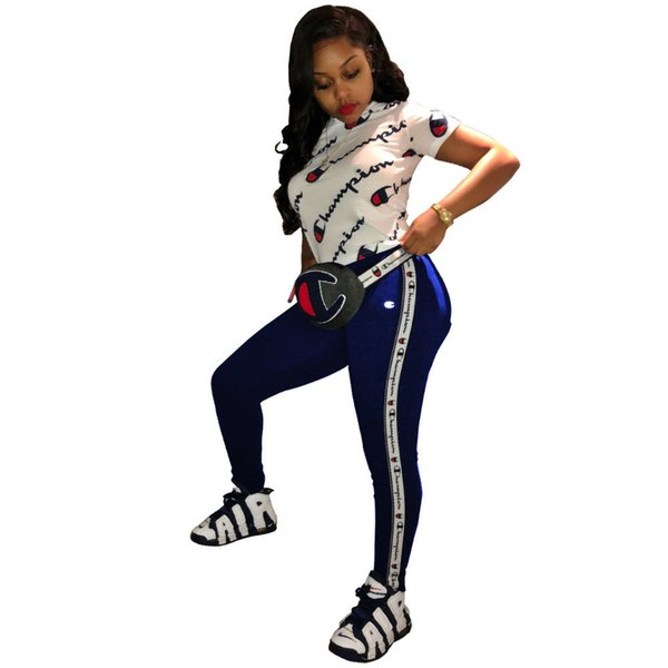 Yaz kadın şort set mektubu tasarımcı eşofman mektup baskı t-shirt üst + şort 2 parça set artı boyutu sportwear jogger yoga kıyafet 02