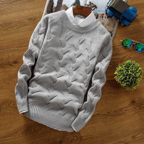 Fashion Warm Knitted Sweaters with Thickened Twisted Collar for Amazon CrossBorder Spot Men