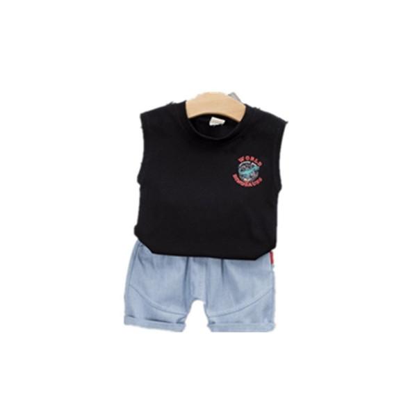 Summer Baby Boy Girls Vest Shorts Suit Children Kid Cartoon 2 Pcs/sets Toddler Leisure Fashion Cotton Clothing Infant Tracksuits