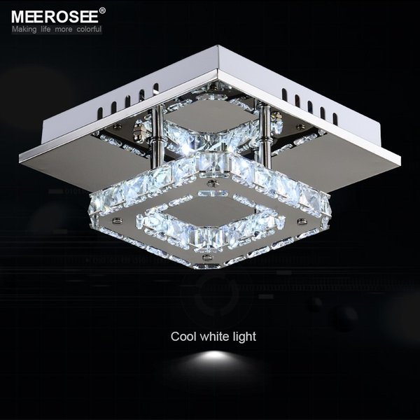 Square LED Crystal Chandelier Light for Aisle Porch Hallway Stairs Bathroom kitchen wth LED Light Bulb 12 Watt 100% Guarantee