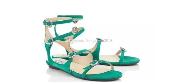 2018 четыре ремешка квартиры замшевые сандалии для женщин вырезать сексуальные дамы летние гладиаторы