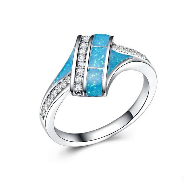 bague diamant bleue
