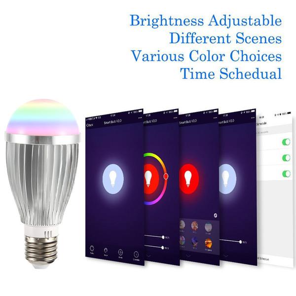 18W Смарт LED Wifi лампы высокой мощности E27 E26 B22 лампочки Поддержка Alexa Google Voice Home Phone App Remote Интеллектуальное управление