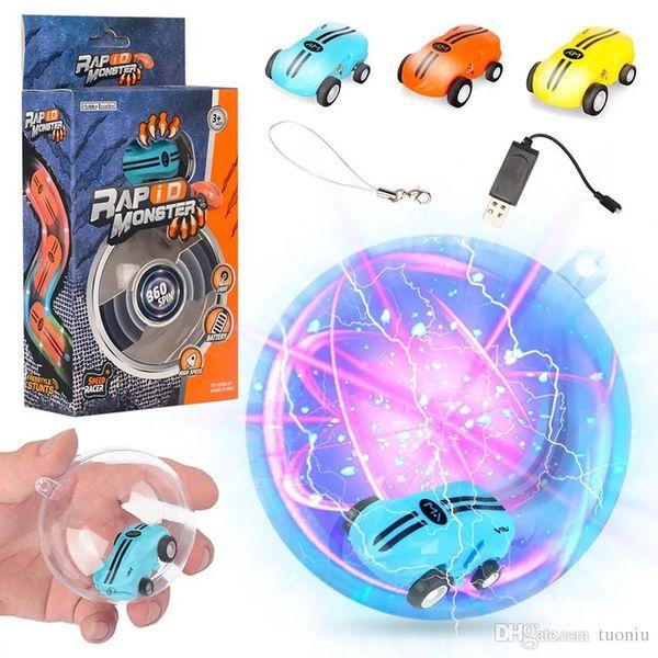 La luce laser Mini alta velocità Auto Spinner 360 ° rotazioni luci Funny cool bambini giocattoli ricarica USB a 360 ° Spin 2 ingranaggi