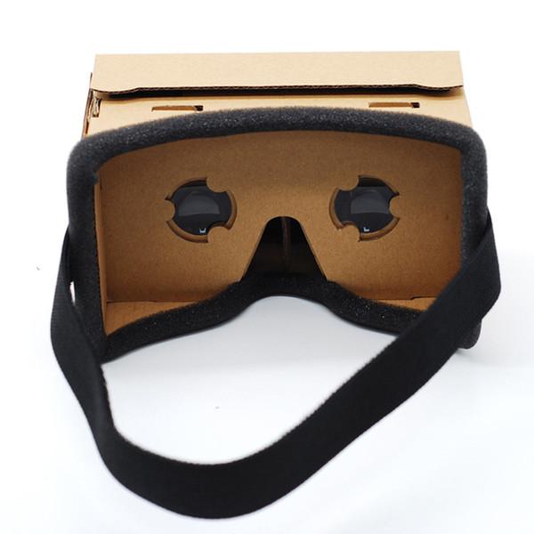 Realtà Virtuale Occhiali Google Cardboard Occhiali 3D Glasses VR Box Film per iPhone 5 6 7 SmartPhone VR auricolare per Xiaomi