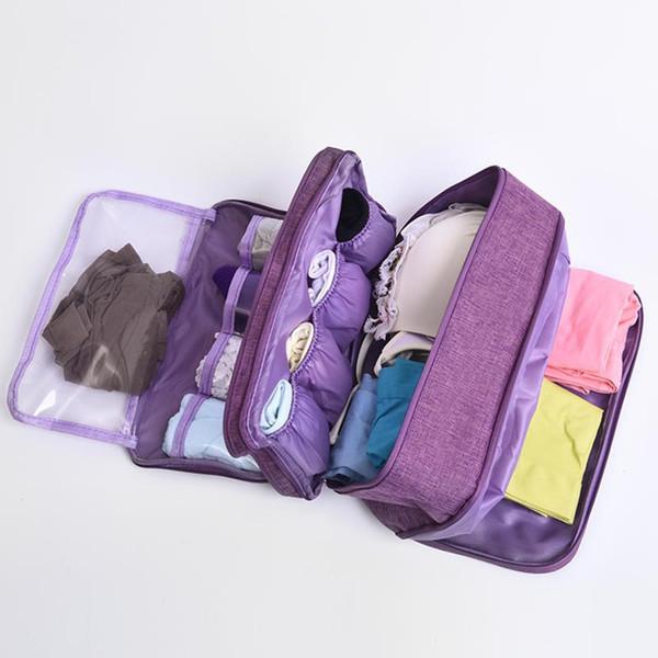 2019 Bra Underwear Drawer Organizers Travel Storage Bag Dividers Box Socks Portable Briefs Clothing Case Wardrobe Closet Accessories