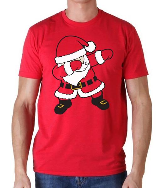 Acheter T Shirt De Noël Pour Garçons Avec Motif De Père Noël Noir Et Blanc Unisexe De 1624 Du Lookcup Dhgatecom