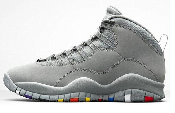 New hight Cement Steel 10s Uomo Basket nero Chicago Cool Grey Powder Blu Steel Grey nero bianco Scarpe sport Sneakers all'ingrosso x3e