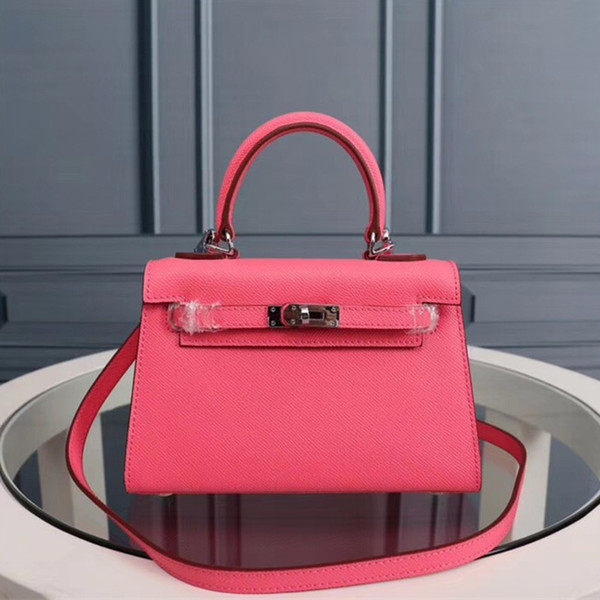 top popular Luxury Designer Shoulder Bags Designer Handbags Tote Purse Shoulder Strap Crossbody Bag High Quality Calfskin Leather Women Handbag 22cm 2019