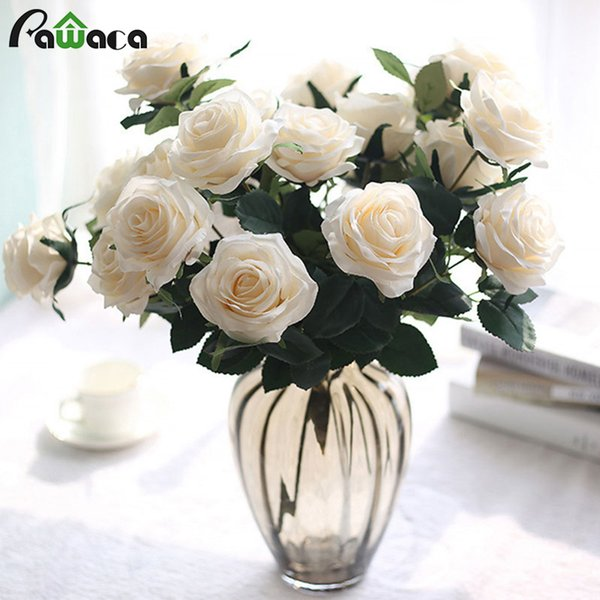 10 heads Artificial Flowers Fake Silk Peony Artificial Bouquet Wedding Party Flowers Rose Floral Bouquet Table Daisy Decor 10 heads Rose