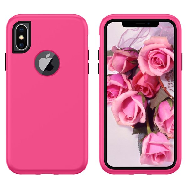 Phone Case For iPhone X XS Max XR 6 6s 8 7 Plus Shockproof Plain Armor Case For iPhone X XR XS Max Soft Solid Cover Coque Shell