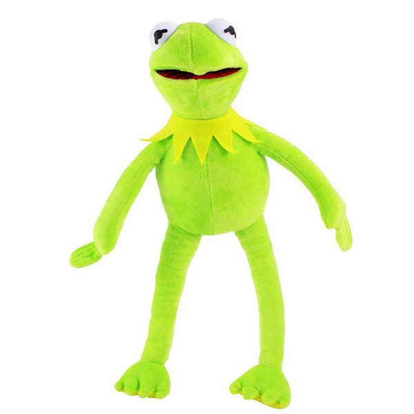 La niña de peluche Kermit rana juguetes Sesame Street Doll juguetes de peluche de dibujos animados rana animales niños juguetes