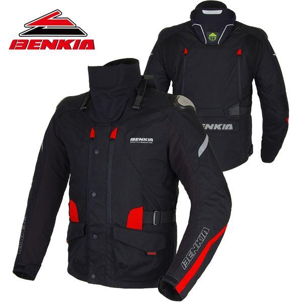BENKIA Motorcycle Jacket Motorbike Racing Jacket Winter Keep Warm Neck Protective Gear With Detachable Liner Moto JD10
