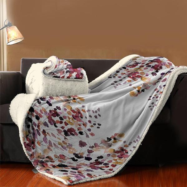 Blumen Decke Multifunktionsdecke Betten Couch Bodenmatte Dekorative Sofadecken