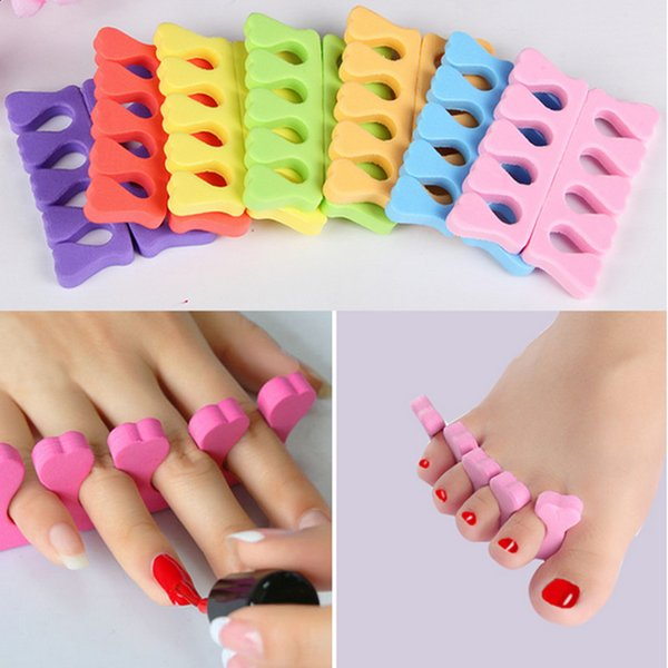 Arte de uñas Separadores de dedos de los pies Esponja suave Dedos de dedos Separador Gel UV Herramientas de belleza Manicura polaca Herramienta profesional