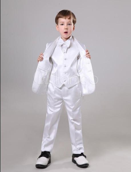 Alta calidad con dos botones, chico blanco, ropa formal, chico guapo, atuendo, ropa de boda, fiesta de cumpleaños, traje de fiesta (chaqueta + pantalón + corbata + chaleco) 38