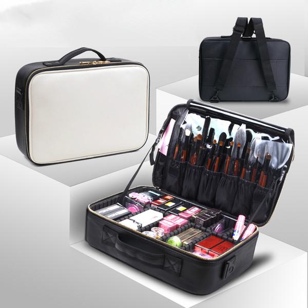 Cosmetic Bags Makeup Bag Women Professional Cosmetic Clapboard Case Large Capacity Storage Handbag Travel Insert Toiletry Box