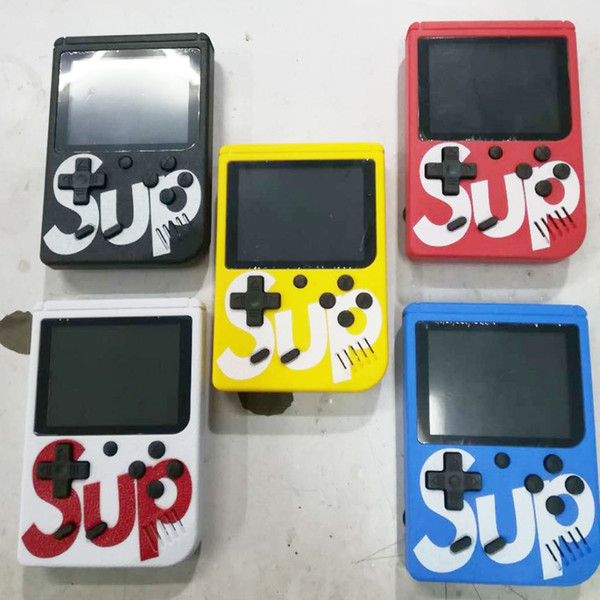 top popular SUP Mini Handheld Game Console Sup Plus Portable Nostalgic Game Player 8 Bit 129 168 300 400 in 1 FC Games Color LCD Display Game Player 2019