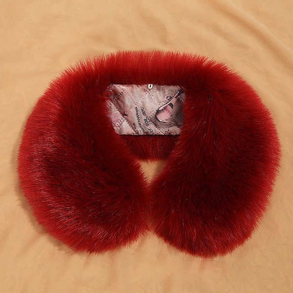 Sale Fur Collar Winter Warm Natural Fur Womens Scarfs Faux Coat Scarves Collar Luxury Raccoon Neck S5180