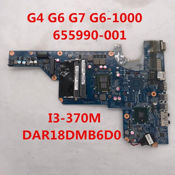 Hohe Qualität für G4 G6 G7 G6-1000 Laptop Motherboard 655990-001 655990-501 DAR18DMB6D0 Mit I3-370M CPU Intel HM55 DDR3 8 GB 100% voll Getestet
