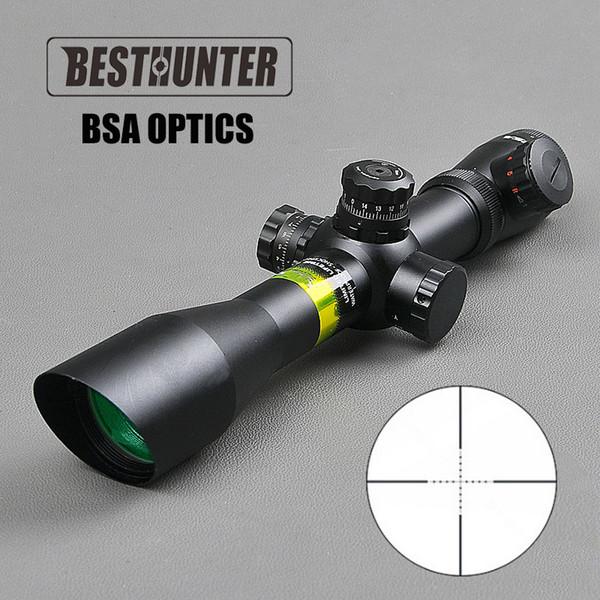 BSA OPTIK 4-12X40 AOE Optik Tüfek Kapsam Sight Cam Avcılık Kapsamları Avı Airsoft Hava Guns için Optik Sight