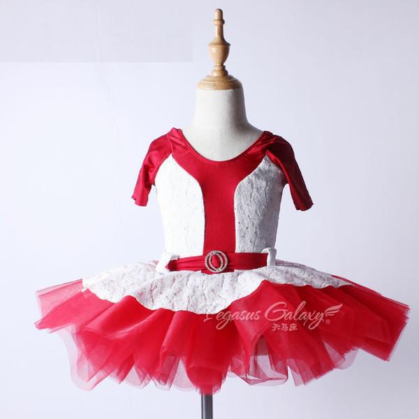 Vestido de bailarina Niños Niñas Leotardo Ropa de baile Ropa de Ballet Adultos profesionales Encaje Ballet Tutu Falda Traje de baile