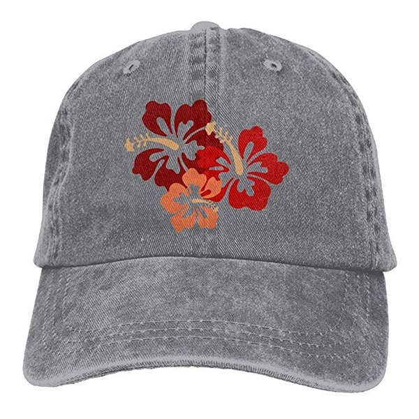 2019 New Wholesale Baseball Caps Print Hat Hibiscus Flower Mens Cotton Adjustable Washed Twill Baseball Cap Hat