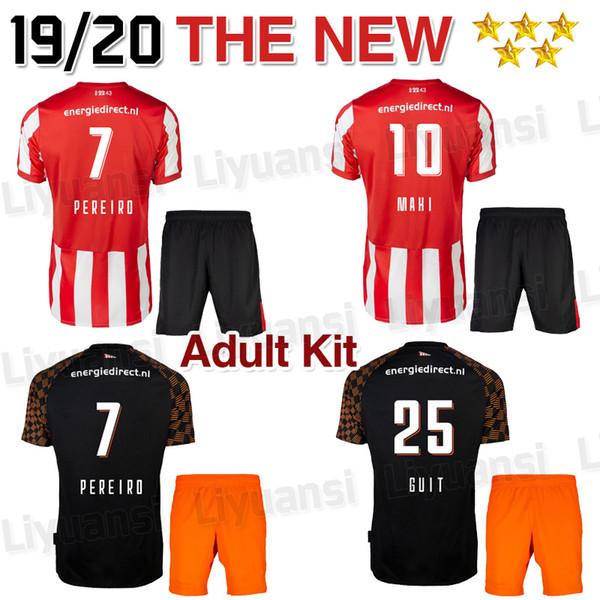Yetişkin kiti 19 20 futbol formaları SIYAH 2019 2020 camiseta Pereiro Hendrix L. D JONG H. Lozano GAKPO adam futbol gömlek