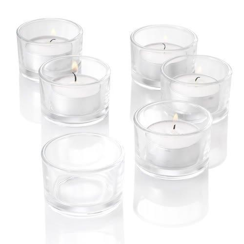 New!bulk Set Of 24pc Glass Candle Holder In Clear/frosted Color(not Included Candle),usd23.76/lots Y19061804