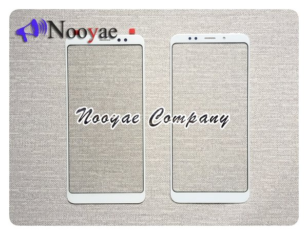 Novaphopat Front Outer Glass Panel For Xiaomi redmi note 5 Pro Glass Lens Screen Replacement (Not Touch Screen LCD ) ; 50pcs/lot