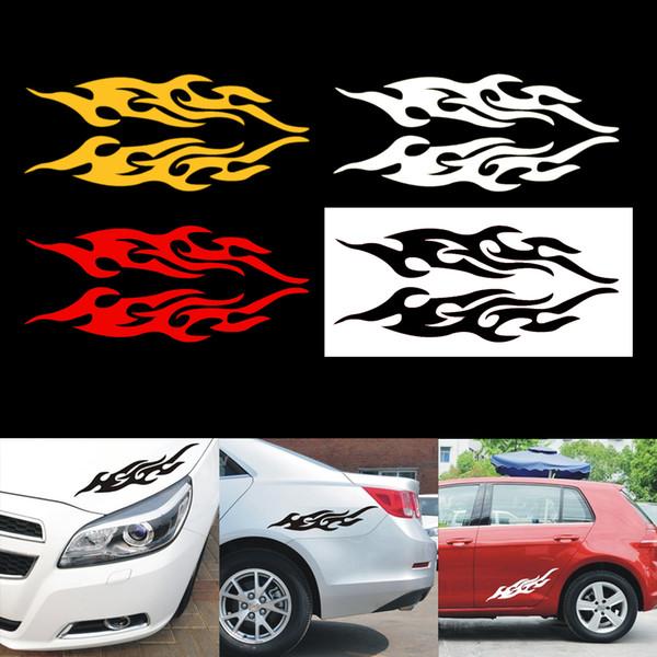 2pcs adesivo auto universale styling cofano motore decorazione moto copertine in vinile auto fiamma autoadesivo del fuoco auto-styling