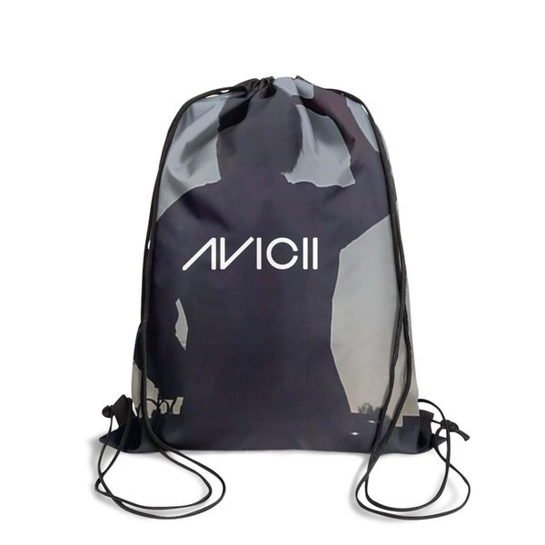 Drawstring Sports Backpack avicii logo dj music tim berglingpersonalized daily gym Travel Fabric Backpack