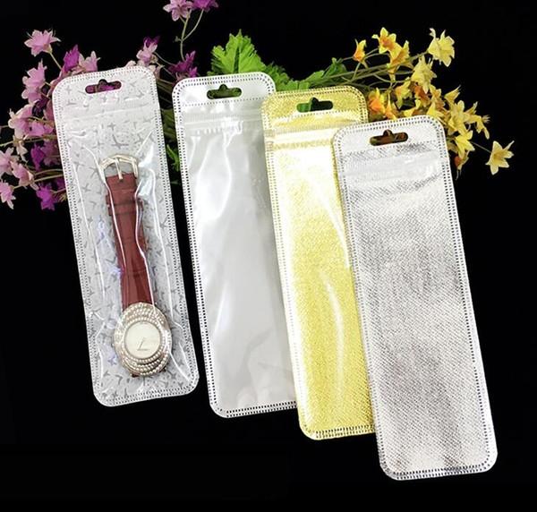 Buste trasparenti in plastica con chiusura a cerniera con sacchetto in polietilene richiudibile con foro per appendere sacchetti per gioielli con confezione regalo da 100 pezzi