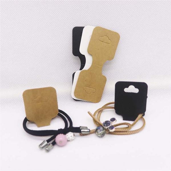 90 * 35 мм оптовый пустая Kraft / белый / черный ювелирных аксессуары видеоадаптера волос пакета видеоадаптер тег для продуктов