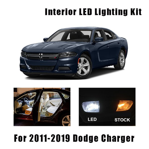 White Canbus Led Interior Light Door Bulbs Kit Fit For Dodge Charger 2011 2016 2017 2018 2019 Map Dome Trunk License Lamp Emergency Car Lights