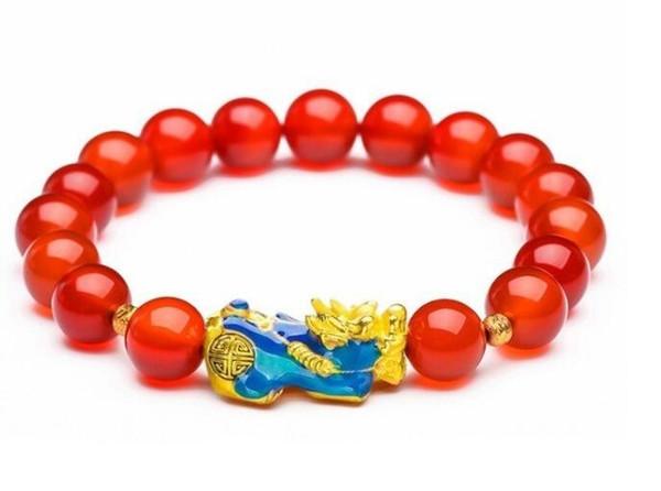 07 New product natural crystal bracelet red/black/green pixiu bracelet discoloured lady single circle bracelet jewelry wholesale