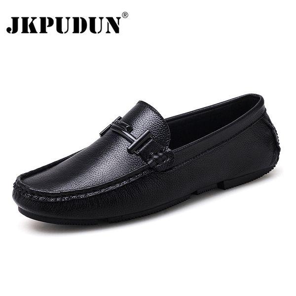 361f800dd5726 JKPUDUN Zapatos para hombre italianos Marcas casuales Slip On Zapatos de lujo  formales Hombres Mocasines Mocasines