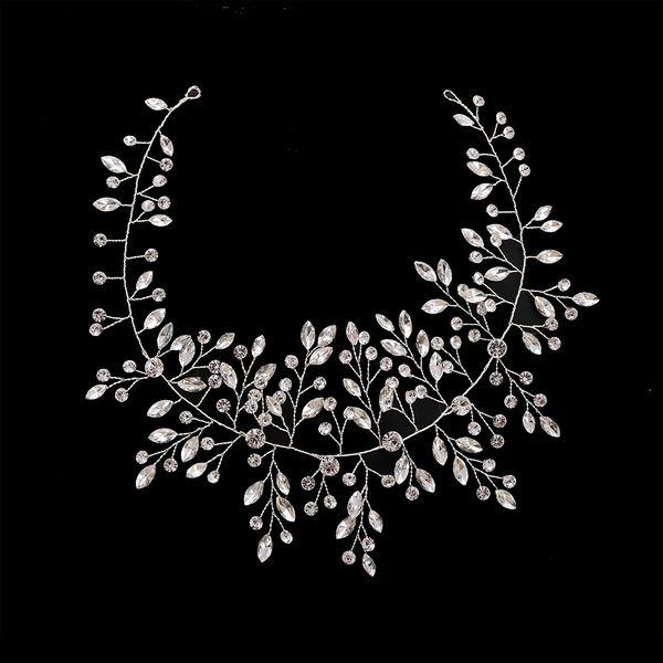 wholesale Classic Elegant Handmade Headband Exquisite Crystal Bridal Wedding Hair Accessories Shiny Rhinestone Ladies Gift Headband