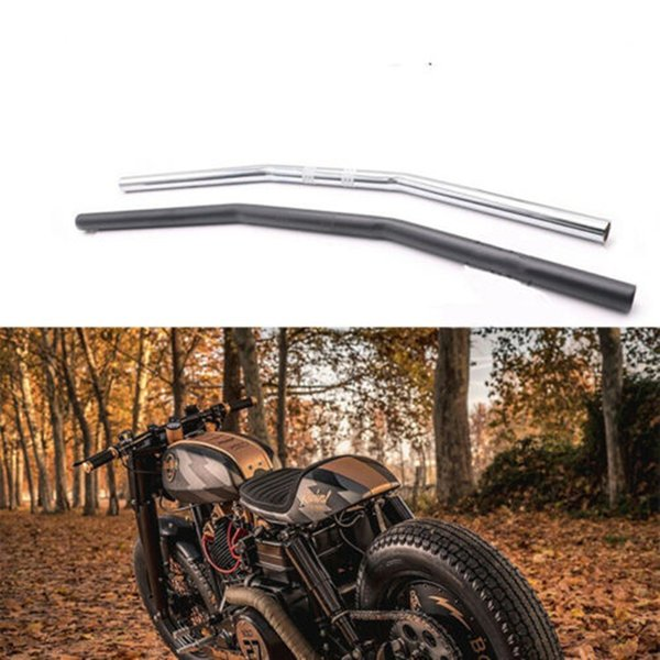 "top popular 1"" 25mm Street Off-Road Universal Handlebars Drag Bars For Sportster XL883 XL1200 XL48 Motorcycle Handle Bar Silver Black 2021"