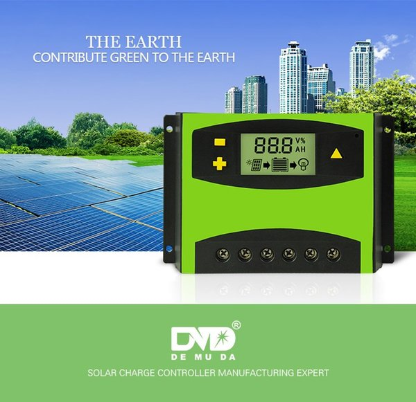 LD 12V24V50A 60A solar charger controller Voltage and current display solar street light controller double 5V USB
