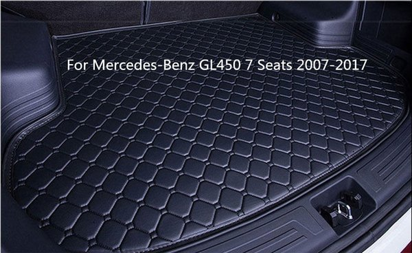 New Hand-made Car Rear Cargo Boot Trunk liner Mat Pad For Mercedes-Benz GL450 7 Seats 2007-2017