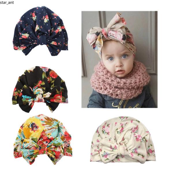New Cotton Baby Girls Bow Headbands Europe Style big wide bowknot print hair band Children Hair Accessories Kids Headbands