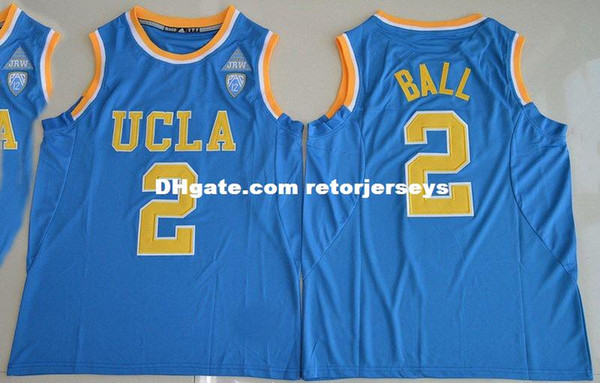 Cheap wholesale Lonzo Ball Jersey #2 UCLA Bruins College Sewn Customize any name number MEN WOMEN YOUTH basketball jersey