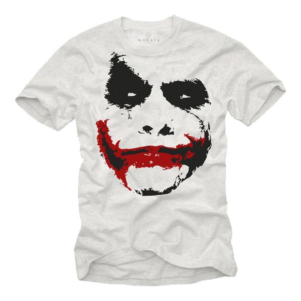 BAT MEN MOVIE T-SHIRT WITH JOKER PRINT DESIGN - SHORT SLEEVE GEEK SUPER HERO TEE Size Discout Hot New Tshirt Top Free Shipping T-shirt