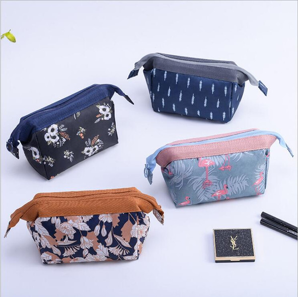 8 Colors High Quality Lady MakeUp Pouch Cosmetic Make Up Bag Clutch Hanging Toiletries Travel Kit Jewelry Organizer Casual Purse free ship
