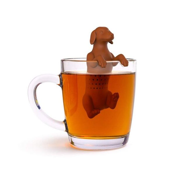 Hot Dog Silicone Tea Infuser Tea Strainer Filter Reusable Tea Diffuser Ball Drinkware tool Kitchen home Accessories