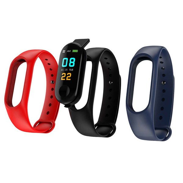 top popular M3 Smart Bracelet smart watch Heart Rate Monitor bluetooth Smartband Health Fitness Smart Band for Android iOS activity tracker DHL ship 2019