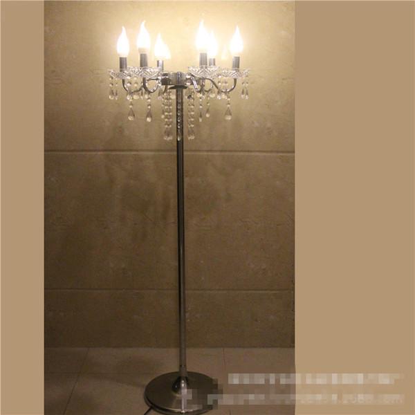 Nouveau style usine or métal table de mariage centres de table stand de fleurs avec la lumière LED gros best0802