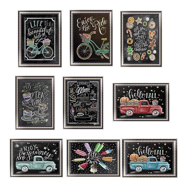 5d diamond painting kits Retro Blackboard text car Embroidery Cross Stitch Full Diamond wall art canvas pictures home Coffee shop decor