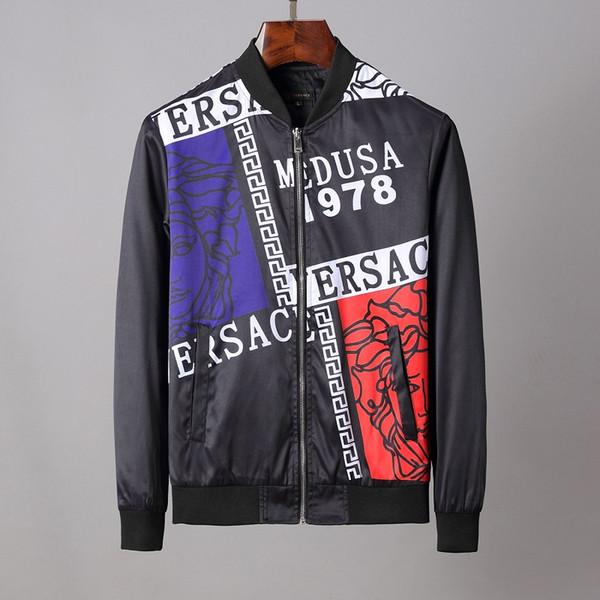 2020 designerVeste coupe-vent de la marque de vêtements hoodie veste homme manches longues fermeture à glissière lettre manteau motif